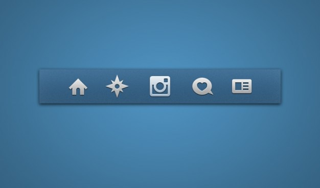 Icon set icone instagram