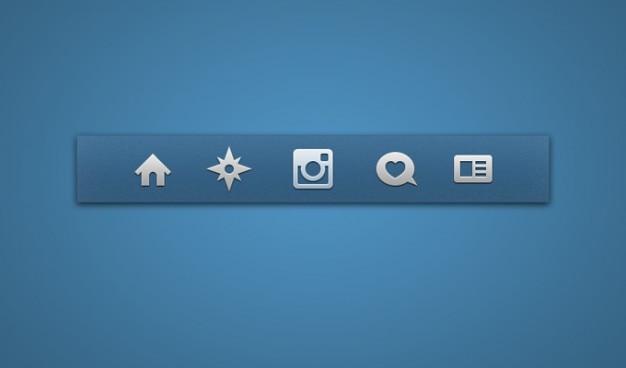 Icon set pictogrammen instagram