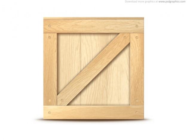 Icona cassa di legno