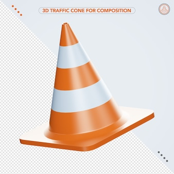Icona di traffico 3d per la composizione
