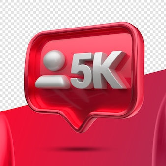 Icono 3d instagram 5k seguidores derecho