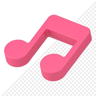Icono 3d de nota musical