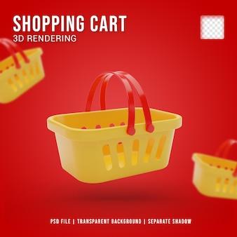Icono de carro de compras 3d