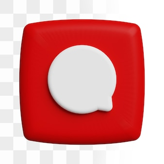 Icono de comentario 3d