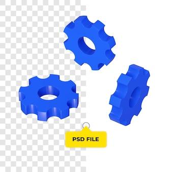 Icono de configuración 3d todo el lado