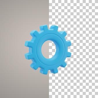 Icono de configuración ilustración 3d