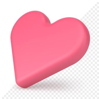 Icono de corazón 3d