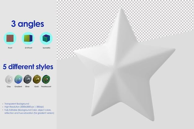 Icono de estrella 3d