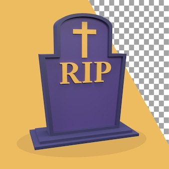 Icono de lápida 3d tema de halloween