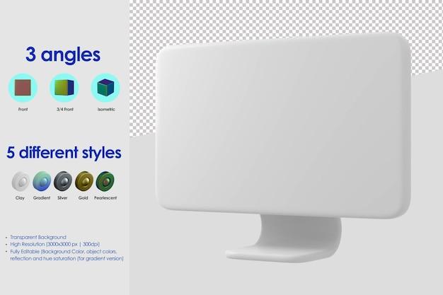 Icono de monitor 3d