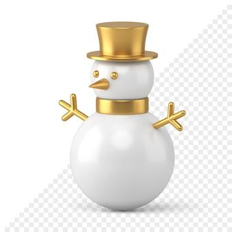 Icono de muñeco de nieve 3d