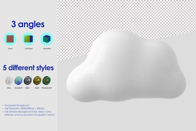Icono de nube 3d
