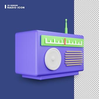 Icono de radio de renderizado 3d