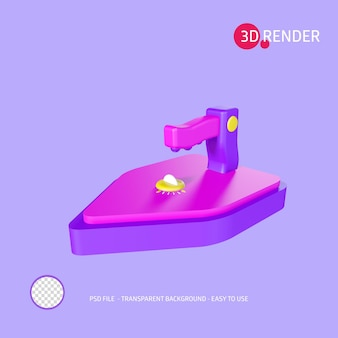 Icono de renderizado 3d hierro