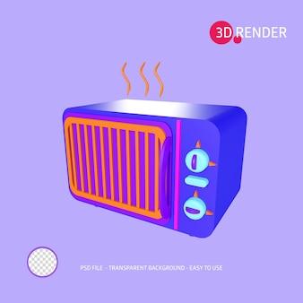 Icono de renderizado 3d microondas