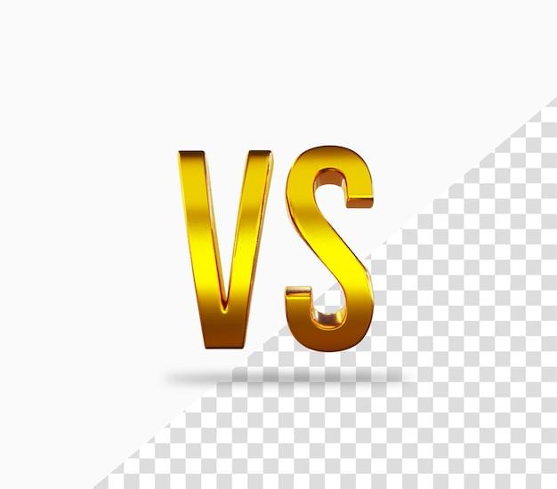 Icono de renderizado 3d vs oro