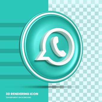Icono de renderizado 3d de whatsapp