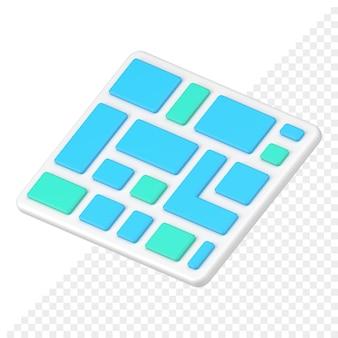 Icono de teclado 3d