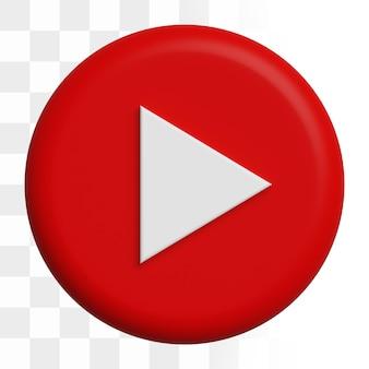 Icono de youtube 3d