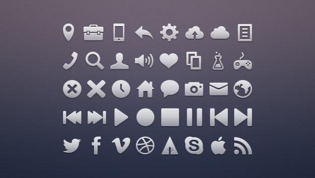 Iconos de redes sociales de metal paquete