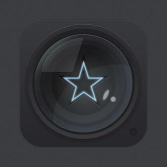 Iconos de la lente con una estrella de aplicaciones