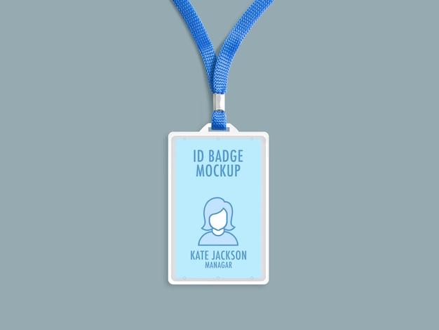 Id badge mockup