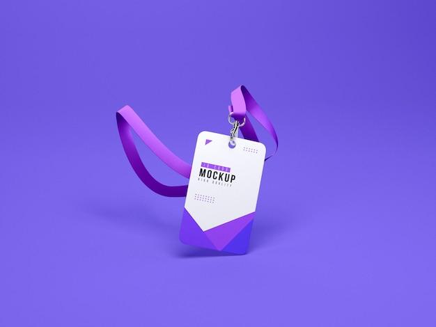 Id-kaarthouder mockup