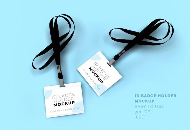 Id-tag badgehouder mock-up