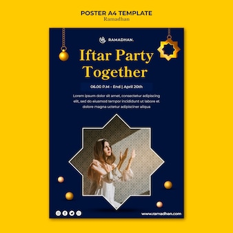Iftar partij poster sjabloon