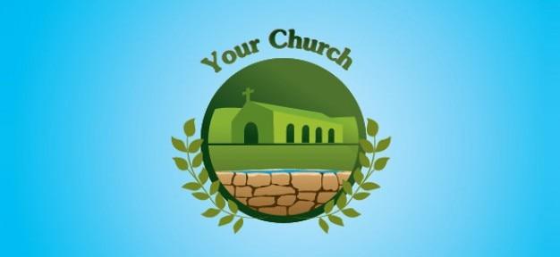 Iglesia plantilla libre de la insignia