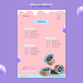 Ijssalon menu