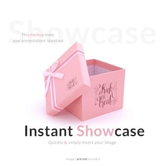 Il contenitore di regalo rosa risale