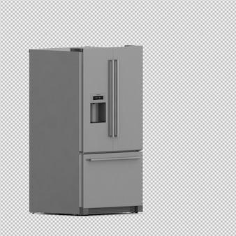 Il frigorifero isometrico 3d isolato rende