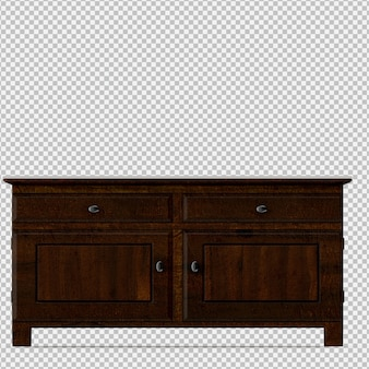 Il gabinetto isometrico 3d rende