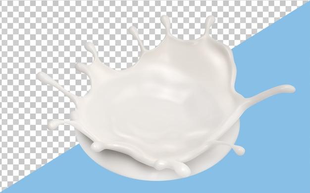 Il latte spruzza isolato
