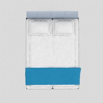 Il letto 3d isometrico rende