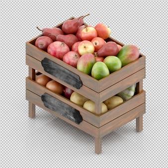 Il mango delle mele delle pere 3d rende