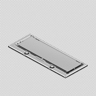 Il piano di cottura isometrico 3d rende