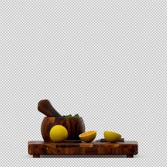 Il rendering 3d di limone
