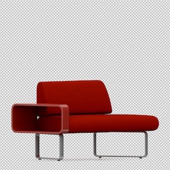 Il sofà isometrico 3d rende