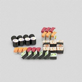 Il sushi 3d rende
