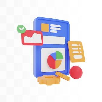 Illustratie concept website ontwerp