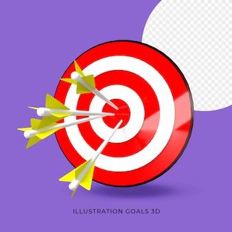 Illustratie doel doel 3d