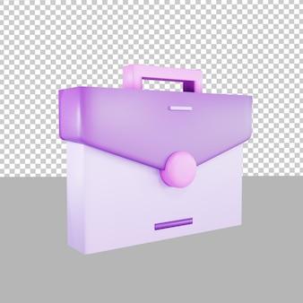 Illustratie van 3d-ontwerppictogram zakelijke tas
