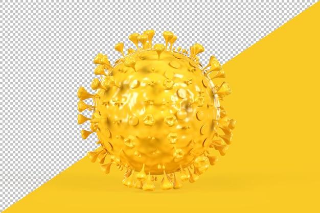 Illustratie van een coronavirus-molecuul geïsoleerd