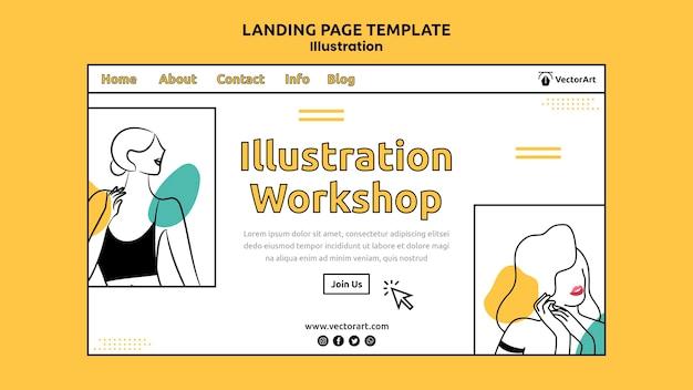 Illustratie workshop bestemmingspagina