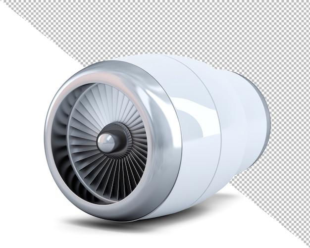 Illustrazione 3d del primo piano del motore a reazione