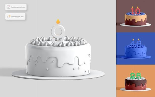 Illustrazione della torta di compleanno