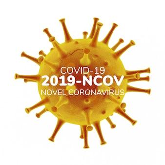 Illustrazione tridimensionale di coronavirus