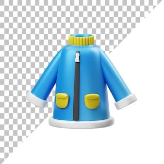 Ilustración 3d de alcantarillado azul